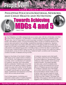 Maternal, Newborn, and Child Health and Nutrition cover