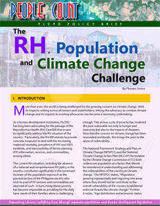 The RH, Population and Climate Change Challenge cover